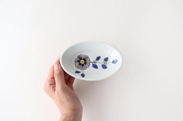楕円小鉢 花枝紋 磁器 有田焼 画像4