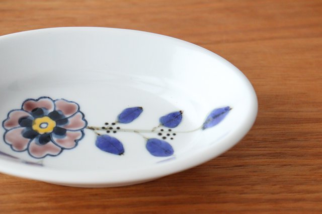 楕円小鉢 花枝紋 磁器 有田焼 画像6