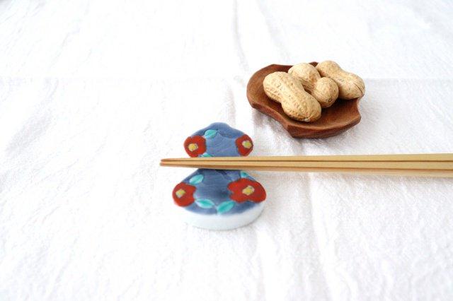 箸置 濃椿 赤 伊万里瓢箪 磁器 有田焼 画像3