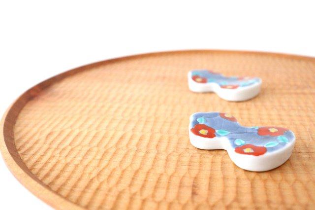 箸置 濃椿 赤 伊万里瓢箪 磁器 有田焼 画像4