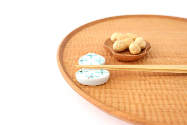 箸置 格子小花 緑 伊万里瓢箪 磁器 有田焼 画像5