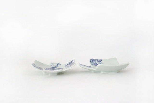 着物銘々皿 撫子青海波  磁器 M's呉服店 有田焼 画像4