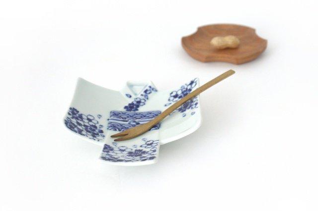 着物銘々皿 撫子青海波  磁器 M's呉服店 有田焼 画像5