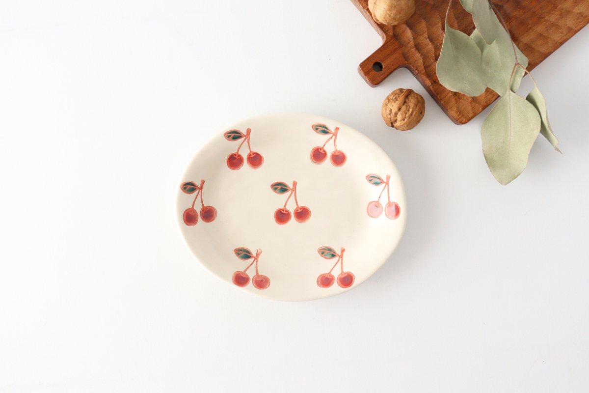 楕円取皿 サクランボ 磁器 fruits 波佐見焼
