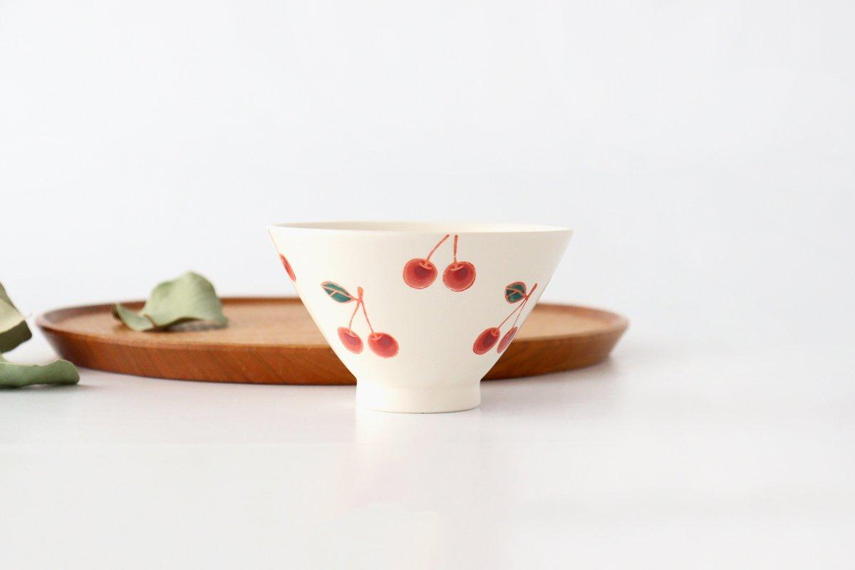 ご飯茶碗 サクランボ 磁器 fruits 波佐見焼
