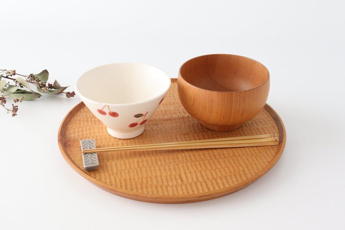 ご飯茶碗 サクランボ 磁器 fruits 波佐見焼 画像2