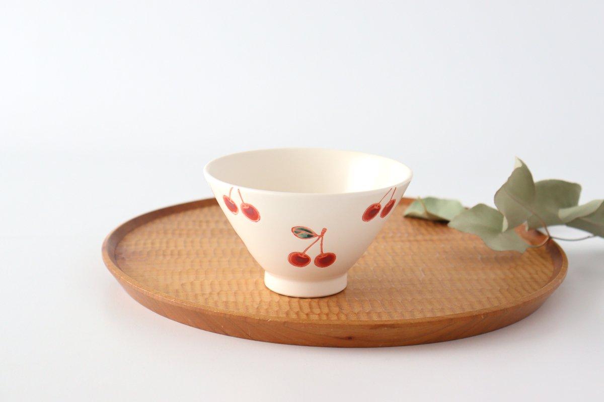 ご飯茶碗 サクランボ 磁器 fruits 波佐見焼 画像4