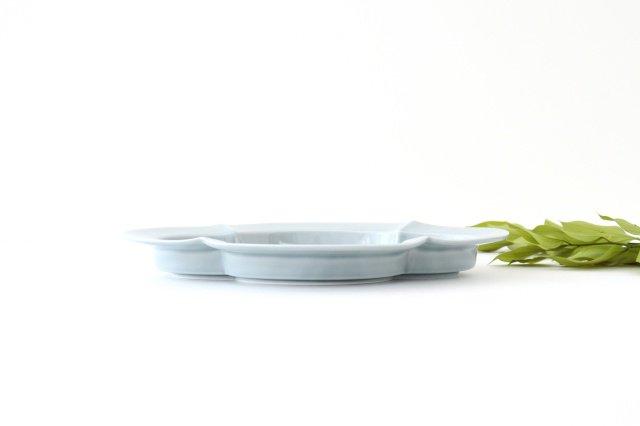 木瓜皿 L ブルーグレー 磁器 波佐見焼 画像3