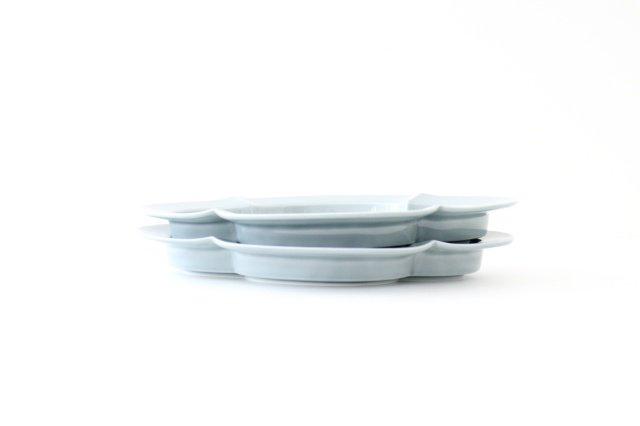 木瓜皿 L ブルーグレー 磁器 波佐見焼 画像4