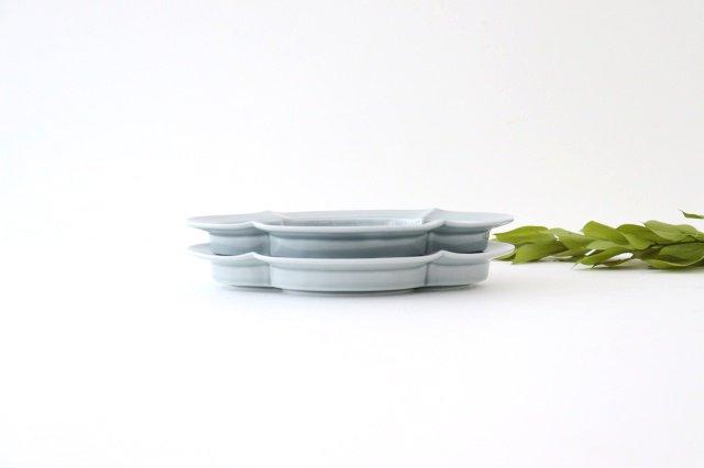 木瓜皿 M ブルーグレー 磁器 波佐見焼 画像5