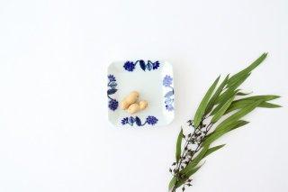 角皿 呉須葉釉花  青 磁器 波佐見焼商品画像