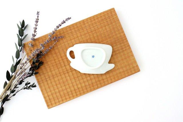 ティーカップ型プレート 矢羽根丸紋 磁器 有田焼 画像2