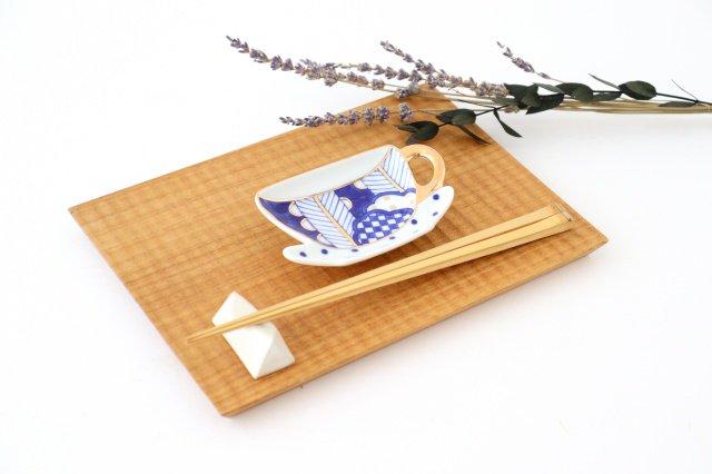 ティーカップ型プレート 矢羽根丸紋 磁器 有田焼 画像4