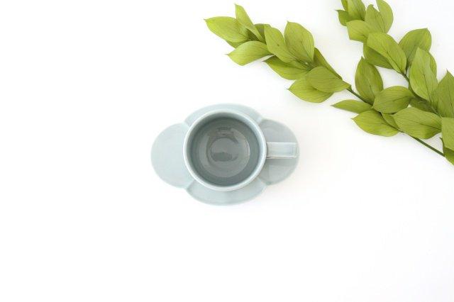 木瓜カップ&ソーサー ブルーグレー 磁器 波佐見焼 画像2