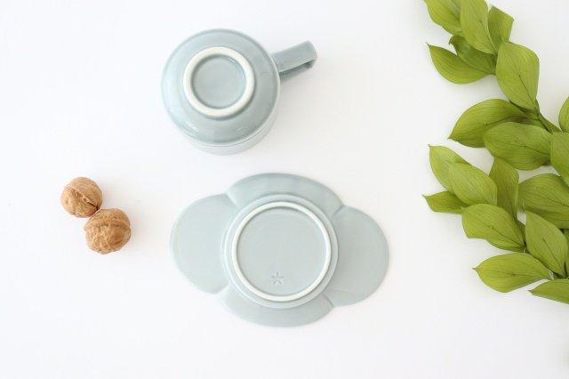 木瓜カップ&ソーサー ブルーグレー 磁器 波佐見焼 画像4