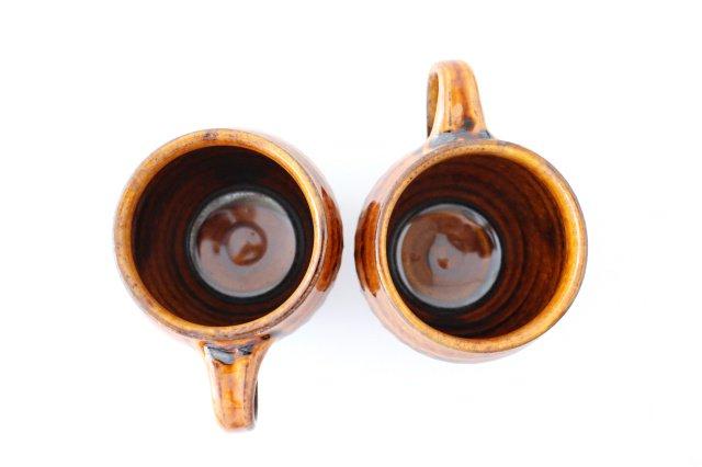 飴釉 しのぎマグ たる型 陶器 古谷製陶所 画像2