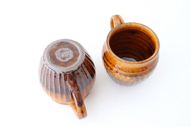 飴釉 しのぎマグ たる型 陶器 古谷製陶所 画像4