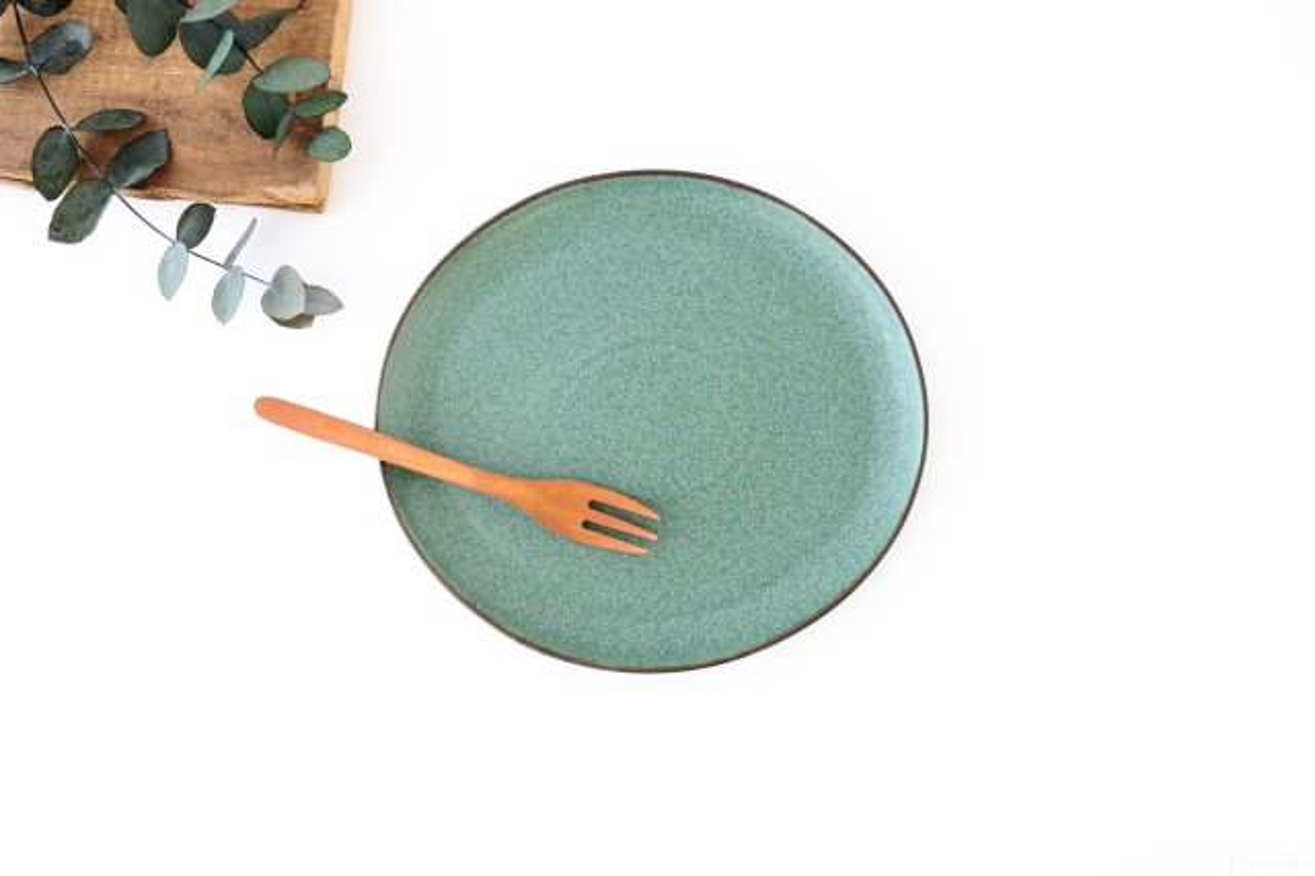 大皿 グリーン 磁器 kei 美濃焼
