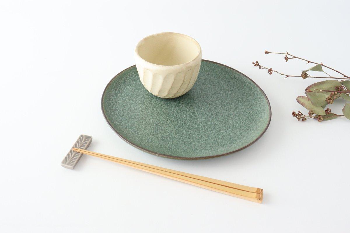 大皿 グリーン 磁器 kei 美濃焼 画像2