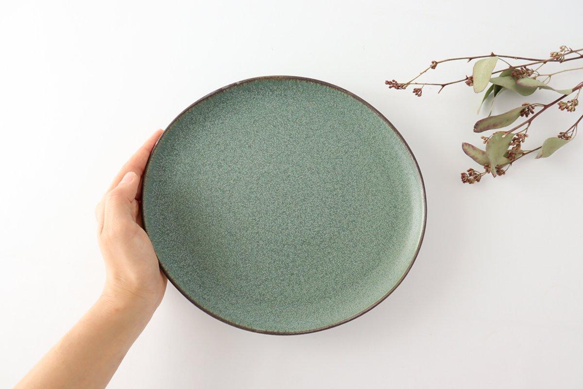 大皿 グリーン 磁器 kei 美濃焼 画像3