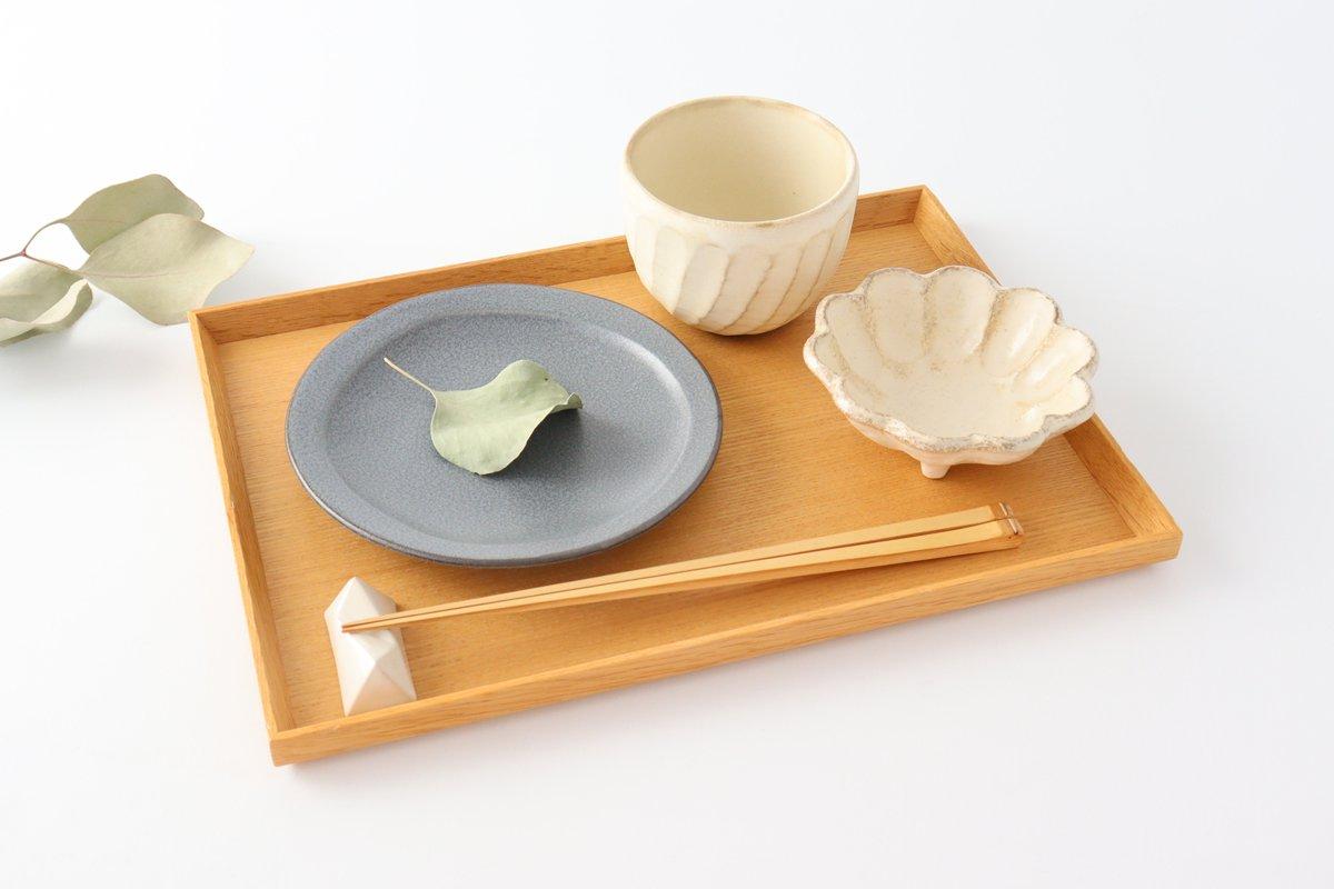 取り皿 グレー 磁器 kei 美濃焼 画像2