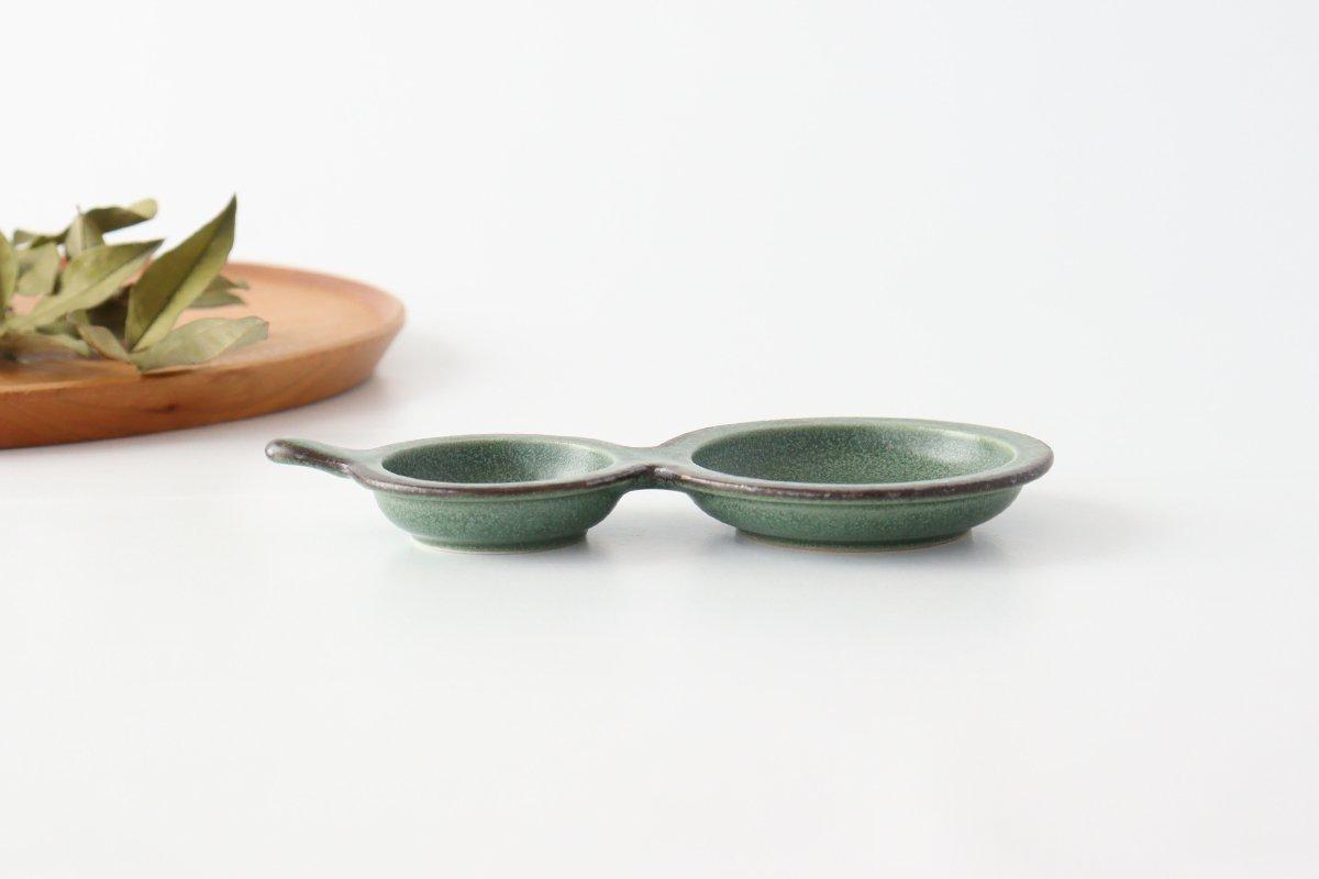 ひょうたん皿 グリーン 磁器 kei 美濃焼 画像5