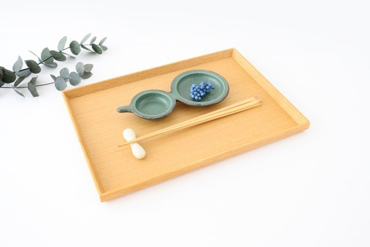 ひょうたん皿 グリーン 磁器 kei 美濃焼 画像6