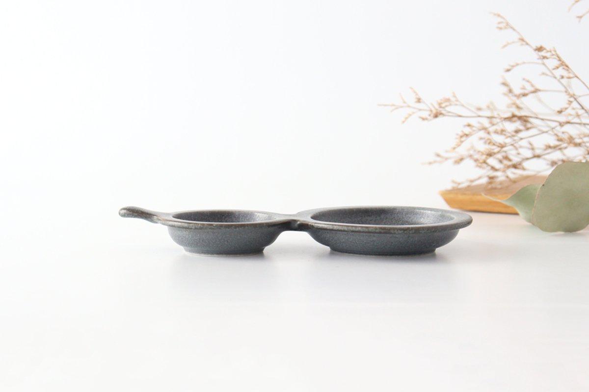 ひょうたん皿 グレー 磁器 kei 美濃焼 画像3
