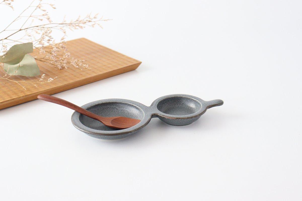 ひょうたん皿 グレー 磁器 kei 美濃焼 画像5