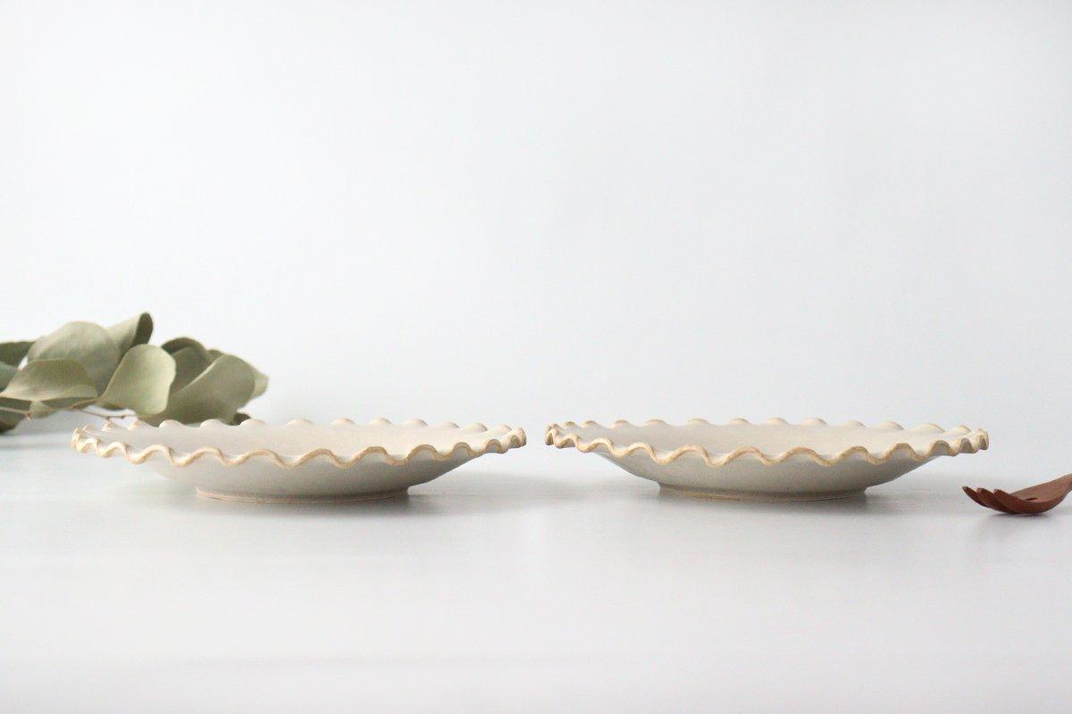 ケーキプレート 6寸 フチハ ホワイト 磁器 美濃焼 画像2