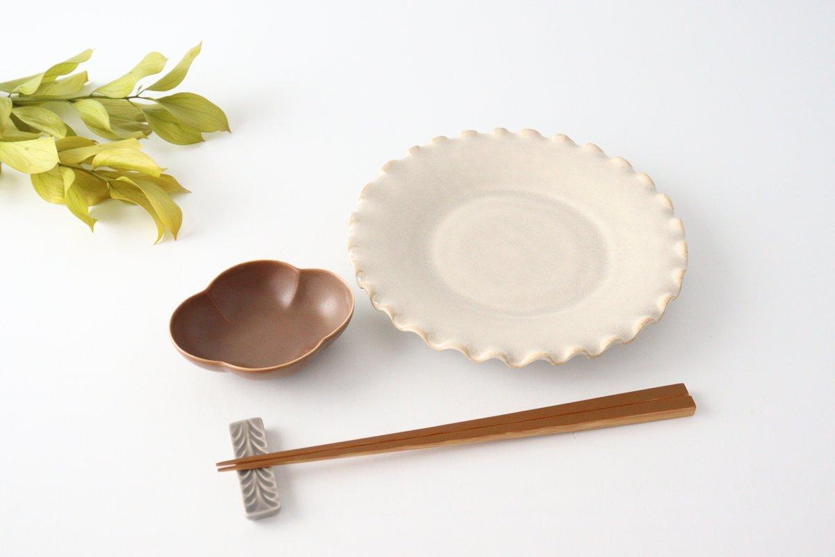 ケーキプレート 6寸 フチハ ホワイト 磁器 美濃焼 画像4