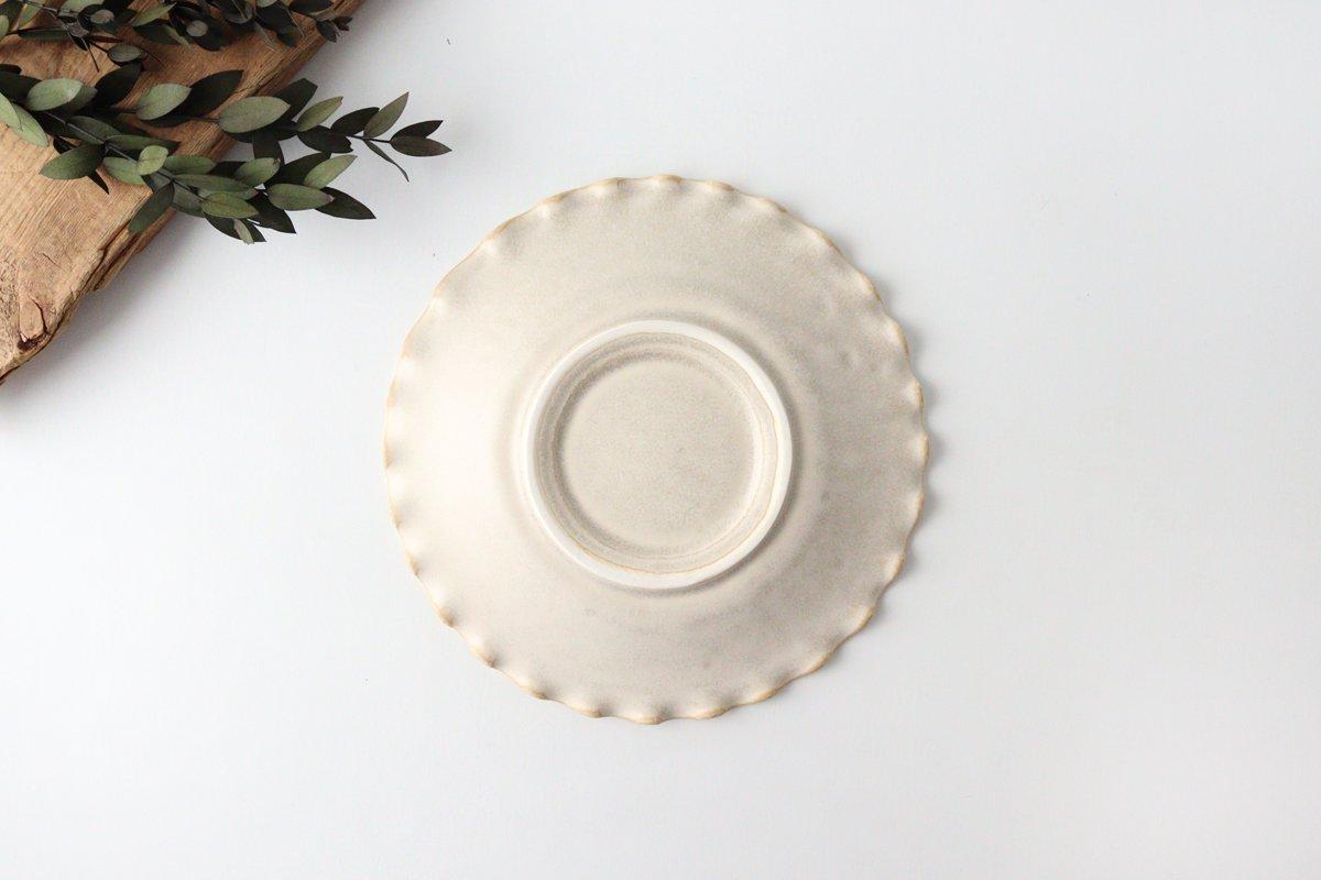 ケーキプレート 6寸 フチハ ホワイト 磁器 美濃焼 画像5