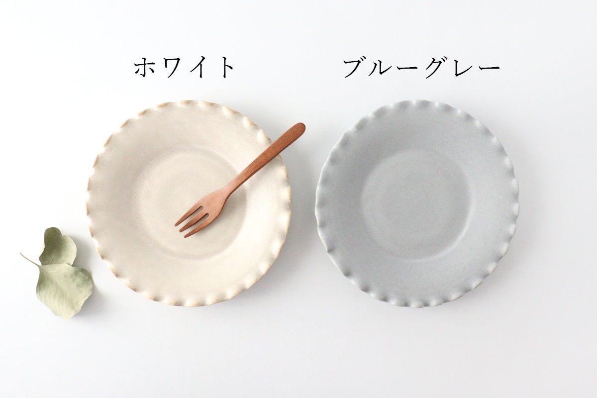 ケーキプレート 6寸 フチハ ホワイト 磁器 美濃焼 画像6