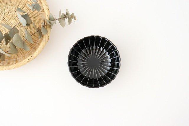 4寸鉢 墨黒 磁器 ぎやまん 美濃焼