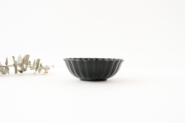 4寸鉢 墨黒 磁器 ぎやまん 美濃焼  画像5