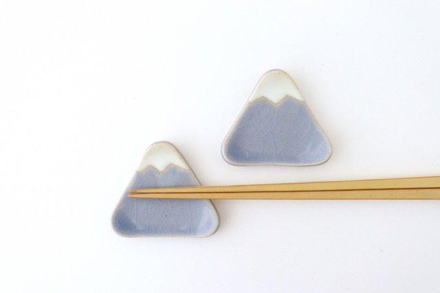 箸置き タタラ富士 小 ブルー 陶器 美濃焼 画像2