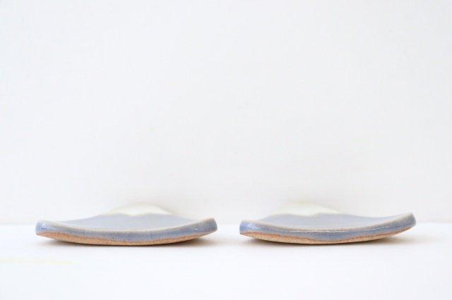 箸置き タタラ富士 小 ブルー 陶器 美濃焼 画像3