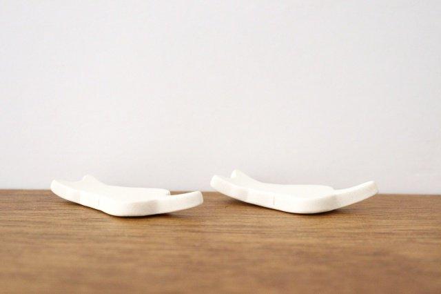 箸置き ネコ 白 陶器 美濃焼 画像3