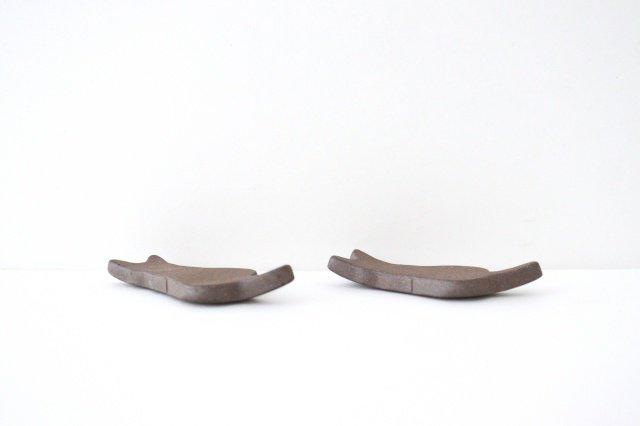 箸置き ネコ 黒 陶器 美濃焼 画像4