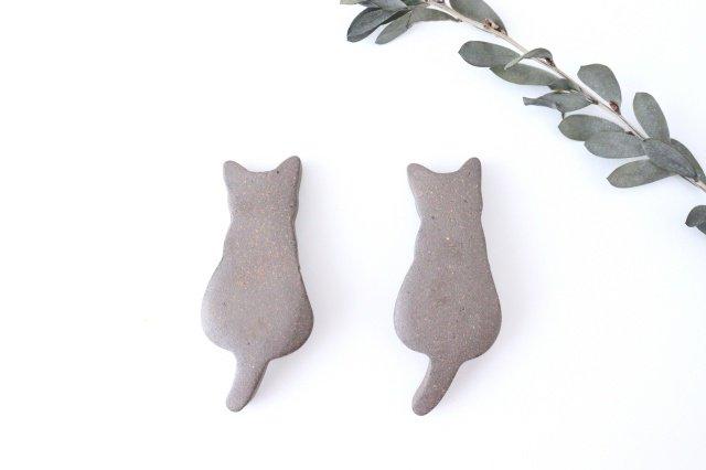 箸置き ネコ 黒 陶器 美濃焼 画像5