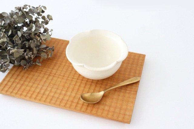 輪花小鉢 白 陶器 酒井陶太