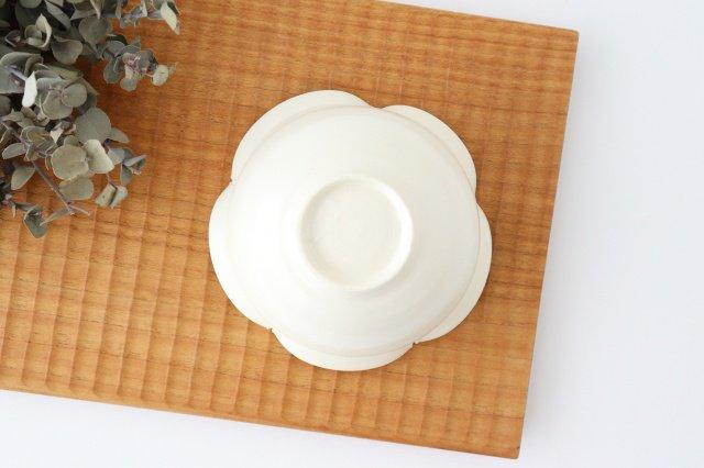 輪花小鉢 白 陶器 酒井陶太 画像4
