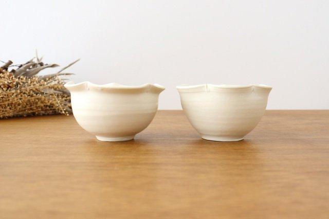 輪花小鉢 白 陶器 酒井陶太 画像6