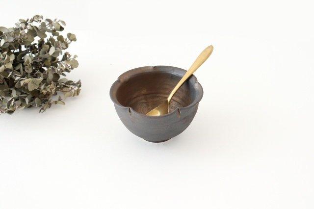 輪花小鉢 黒 陶器 酒井陶太