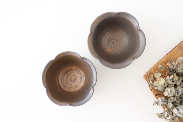 輪花小鉢 黒 陶器 酒井陶太 画像3