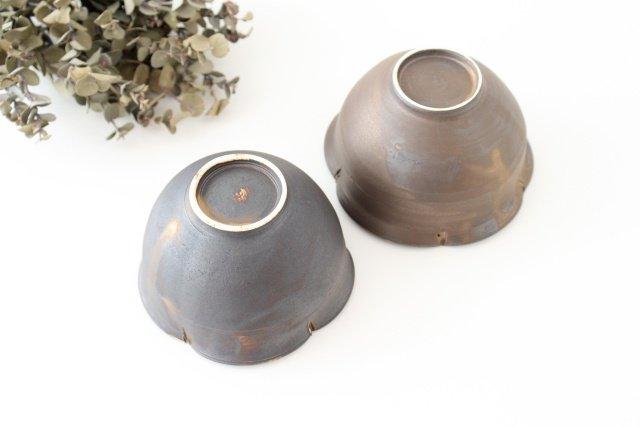 輪花小鉢 黒 陶器 酒井陶太 画像4