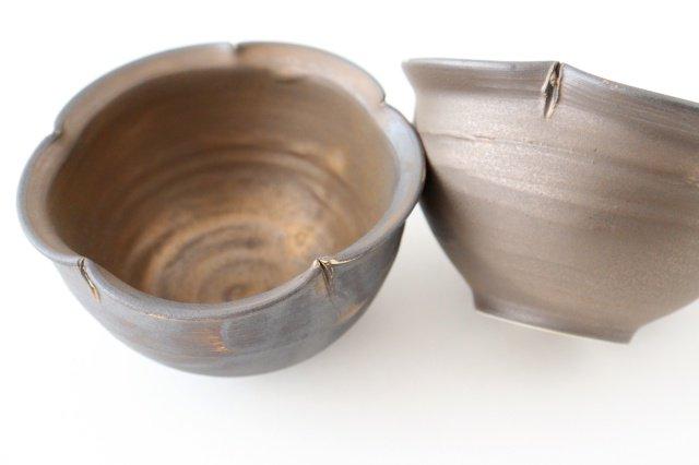 輪花小鉢 黒 陶器 酒井陶太 画像5