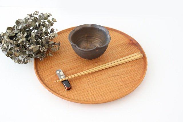 輪花小鉢 黒 陶器 酒井陶太 画像6