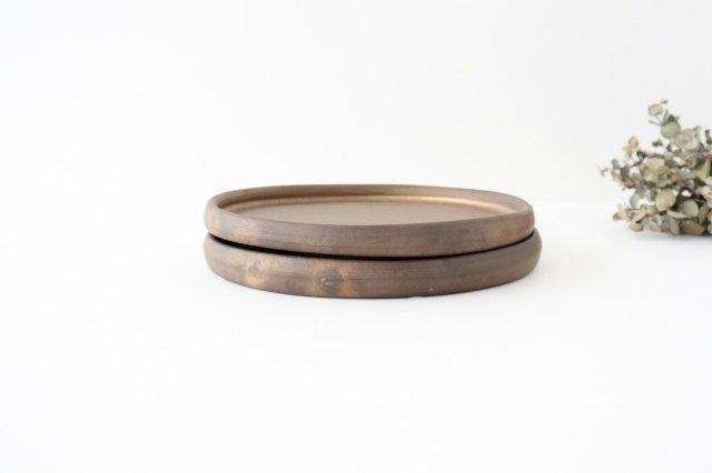 リムなし皿 5寸 黒 陶器 酒井陶太 画像5