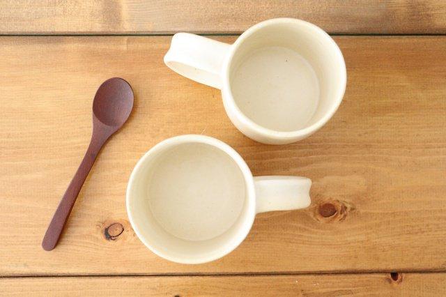 マグカップ 白 陶器 酒井陶太 画像3